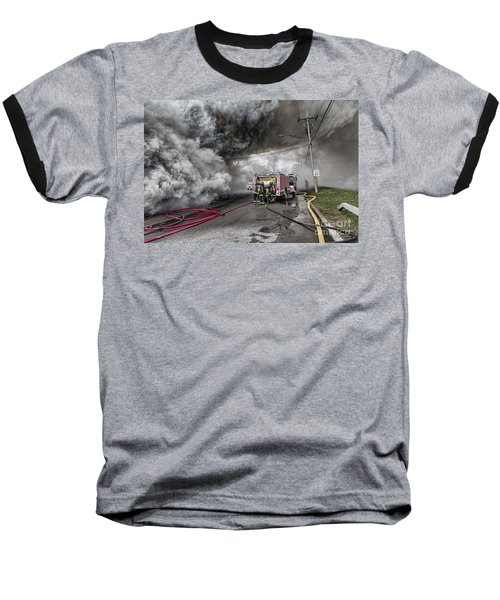 Baseball T-Shirt featuring the photograph Raging Inferno by Jim Lepard