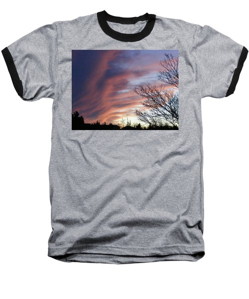 Baseball T-Shirt featuring the photograph Raging Sky by Barbara Griffin