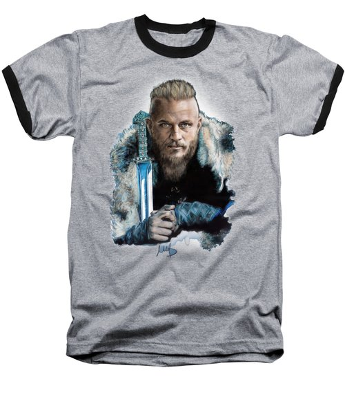 Ragnar Lothbrok Baseball T-Shirt by Melanie D