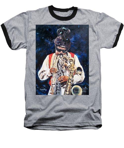 Rahsaan Roland Kirk- Jazz Baseball T-Shirt by Sigrid Tune