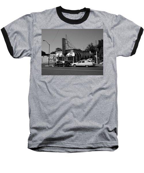 Baseball T-Shirt featuring the photograph Raifords Disco Memphis A Bw by Mark Czerniec