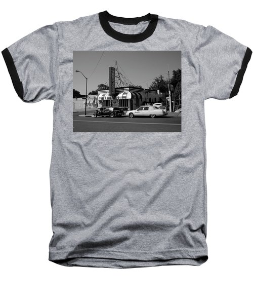Baseball T-Shirt featuring the photograph Raifords Disco Memphis A Bw by Mark Czerniec