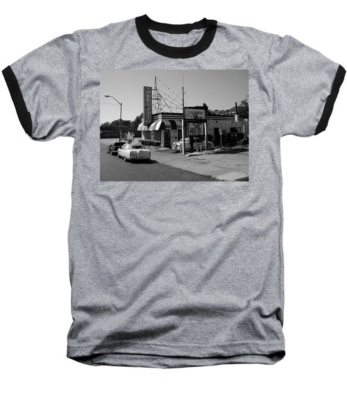 Baseball T-Shirt featuring the photograph Raifords Disco Memphis B Bw by Mark Czerniec