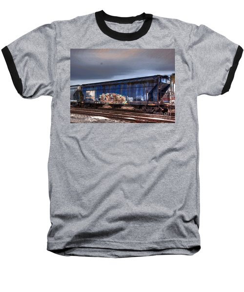 Baseball T-Shirt featuring the photograph Rail Art by Robert Pearson