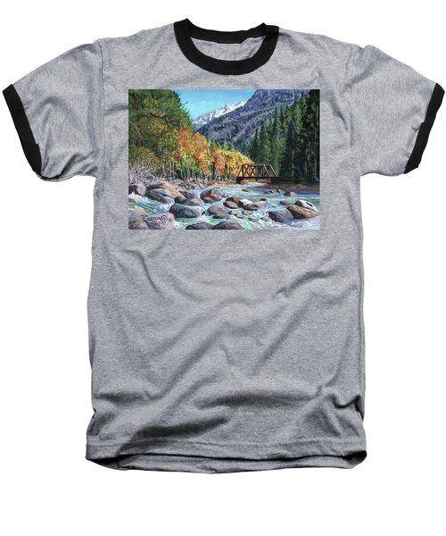 Rail Bridge At Cascade Baseball T-Shirt