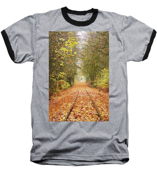 Railroad Tracks Baseball T-Shirt