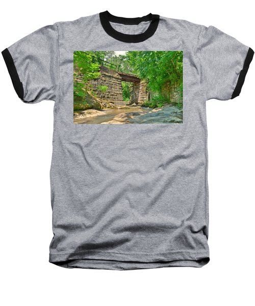 Railroad Tracks At Buttermilk/homewood Falls Baseball T-Shirt