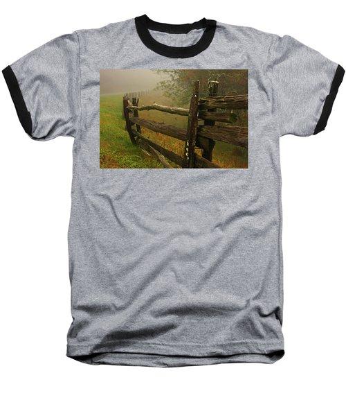 Rails Of Time Baseball T-Shirt by Dale R Carlson