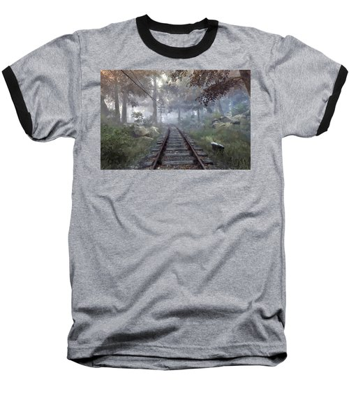 Rails To A Forgotten Place Baseball T-Shirt by Kai Saarto