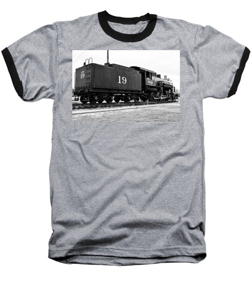 Railway Engine In Frisco Baseball T-Shirt