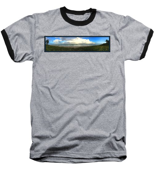 Baseball T-Shirt featuring the photograph Rain And A Bow by Steven Lebron Langston