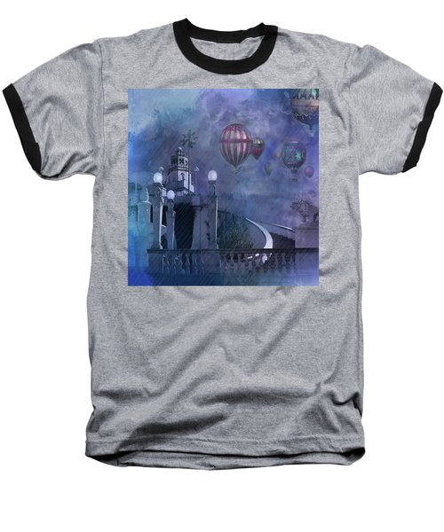 Rain And Balloons At Hearst Castle Baseball T-Shirt by Jeff Burgess
