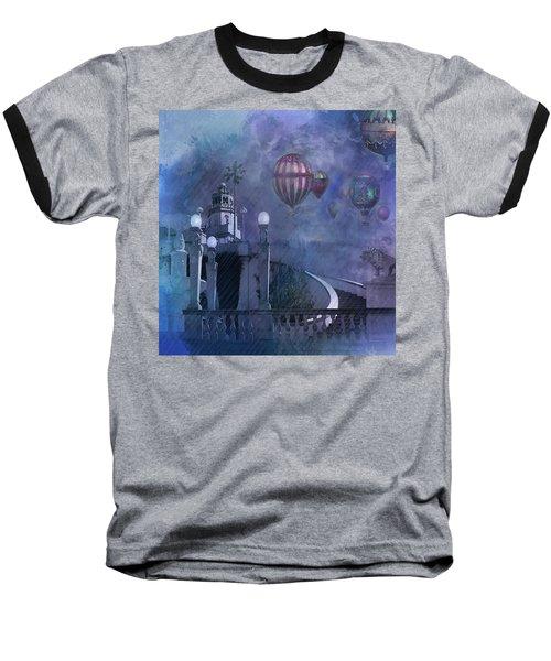 Rain And Balloons At Hearst Castle Baseball T-Shirt