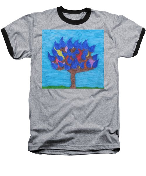 Rain Beauty Tree Baseball T-Shirt