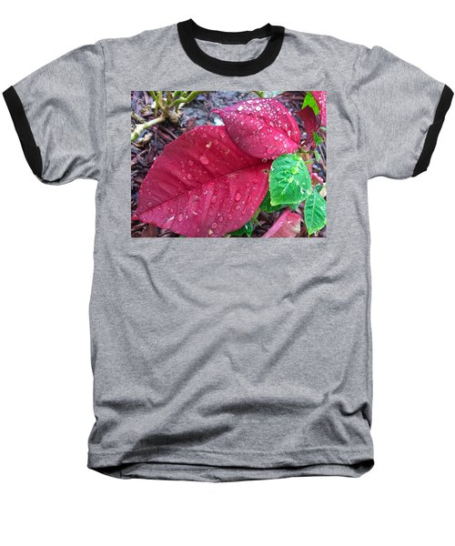 Rain Drops Baseball T-Shirt by Carlos Avila