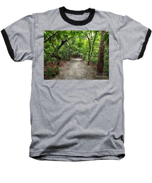 Rain Forest Road Baseball T-Shirt