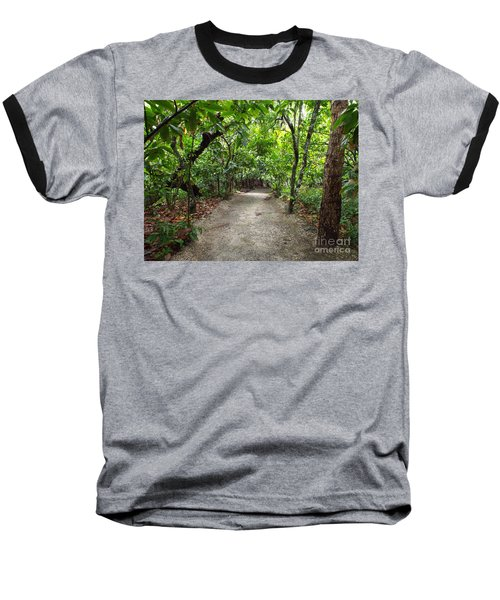 Rain Forest Road Baseball T-Shirt