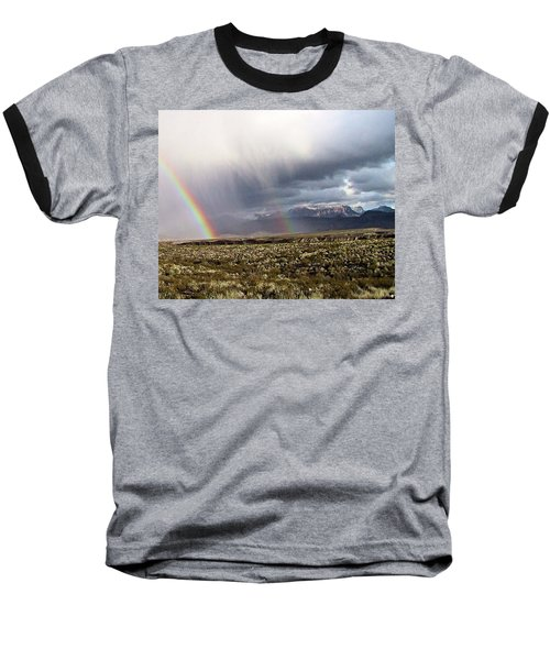 Baseball T-Shirt featuring the painting Rain In The Desert by Dennis Ciscel