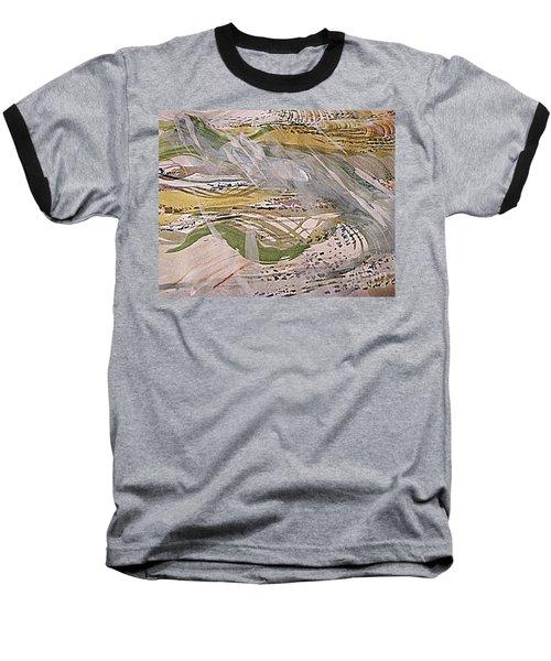 Rain In The  Valley Baseball T-Shirt by Nancy Kane Chapman