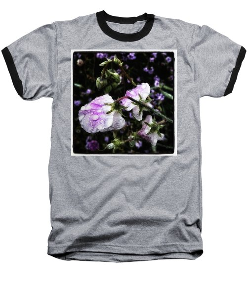 Baseball T-Shirt featuring the photograph Rain Kissed Petals. This Flower Art by Mr Photojimsf
