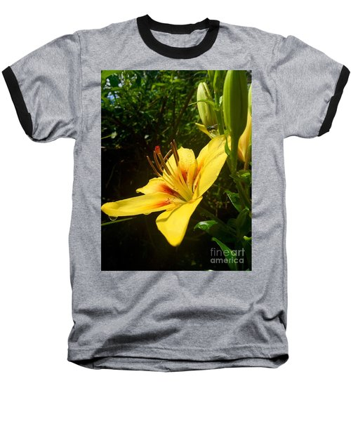 Rain Kissed Tiger Lily Baseball T-Shirt