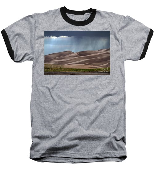 Rain On The Great Sand Dunes Baseball T-Shirt by Catherine Sherman