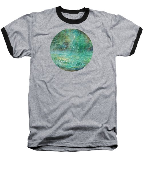 Baseball T-Shirt featuring the painting Rain On The Pond by Mary Wolf
