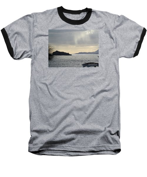 Rain Over Pelican Key Baseball T-Shirt by Margaret Brooks