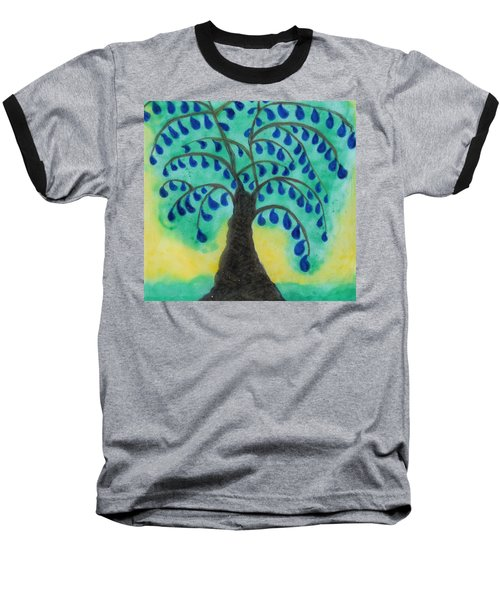 Rain Drop Umbrella Tree Baseball T-Shirt