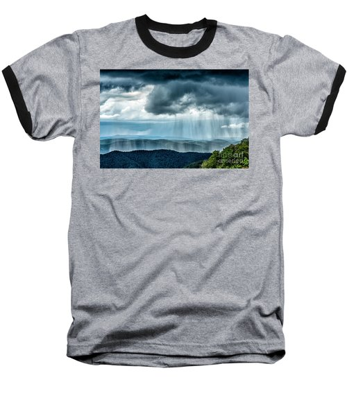 Baseball T-Shirt featuring the photograph Rain Shower Staunton Parkersburg Turnpike by Thomas R Fletcher