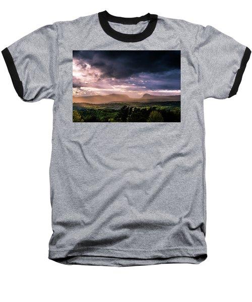 Rain Showers Over Willoughby Gap Baseball T-Shirt