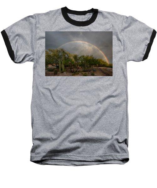Baseball T-Shirt featuring the photograph Rain Then Rainbows by Dan McManus