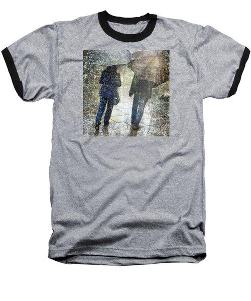 Rain Through The Fountain Baseball T-Shirt by LemonArt Photography