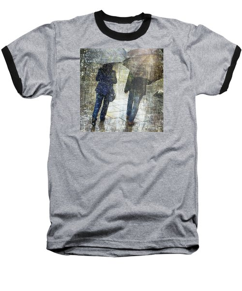 Rain Through The Fountain Baseball T-Shirt