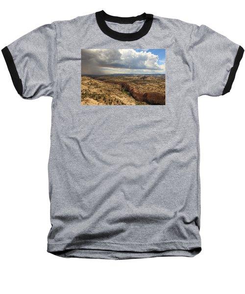 Rain And Sun Over Calf Creek. Baseball T-Shirt by Johnny Adolphson