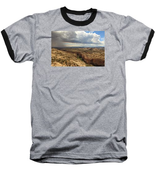 Rain And Sun Over Calf Creek. Baseball T-Shirt