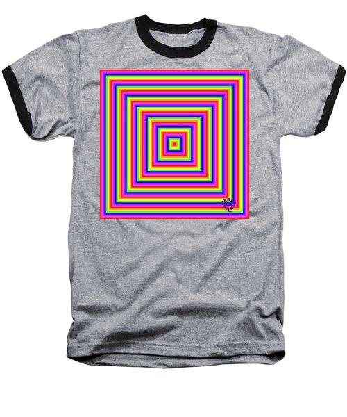 Baseball T-Shirt featuring the digital art Rainbow #1 by Barbara Tristan