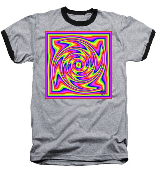 Baseball T-Shirt featuring the digital art Rainbow #2 by Barbara Tristan