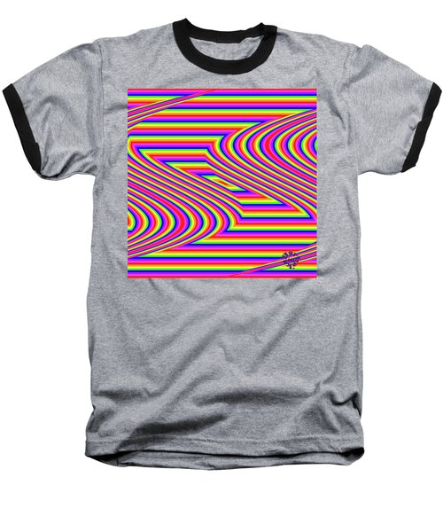 Baseball T-Shirt featuring the digital art Rainbow #5 by Barbara Tristan