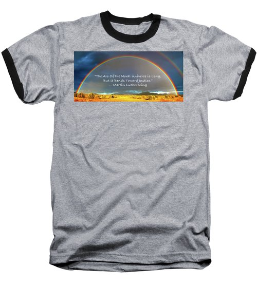 Martin Luther King - Justice Baseball T-Shirt