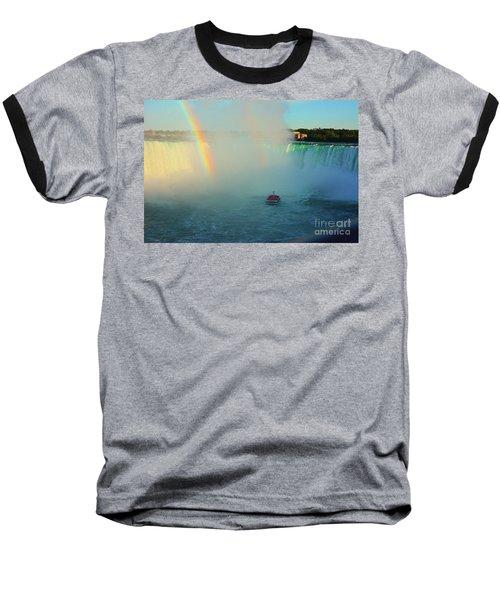 Rainbow At Horseshoe Falls Baseball T-Shirt