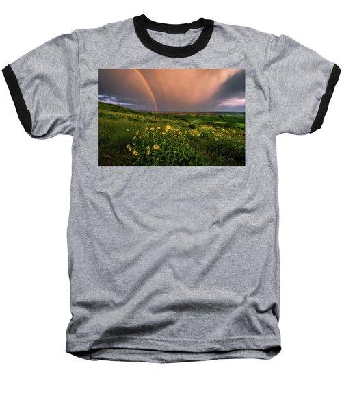 Rainbow At Steptoe Butte Baseball T-Shirt