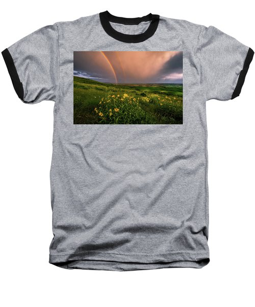 Rainbow At Steptoe Butte Baseball T-Shirt