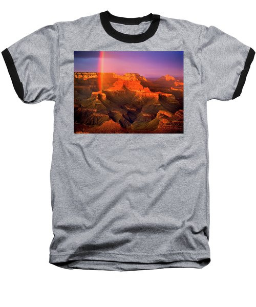 Rainbow At The Grand Canyon Baseball T-Shirt