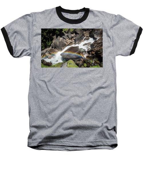 Rainbow At Vernal Falls- Baseball T-Shirt