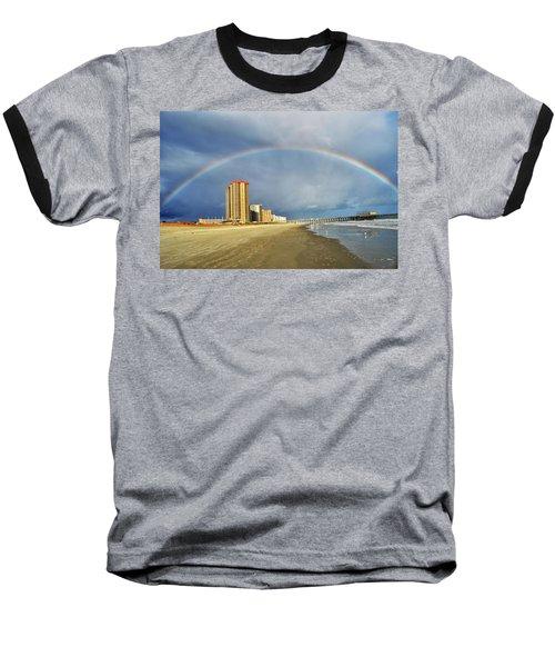 Rainbow Beach Baseball T-Shirt by Kelly Reber
