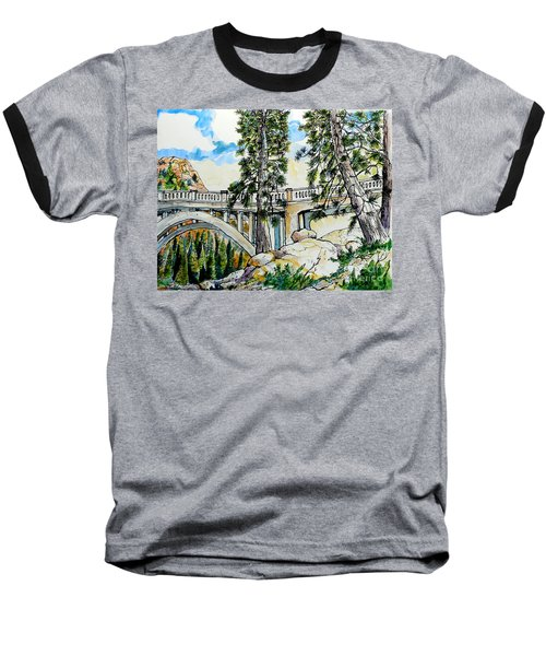 Baseball T-Shirt featuring the painting Rainbow Bridge At Donner Summit by Terry Banderas