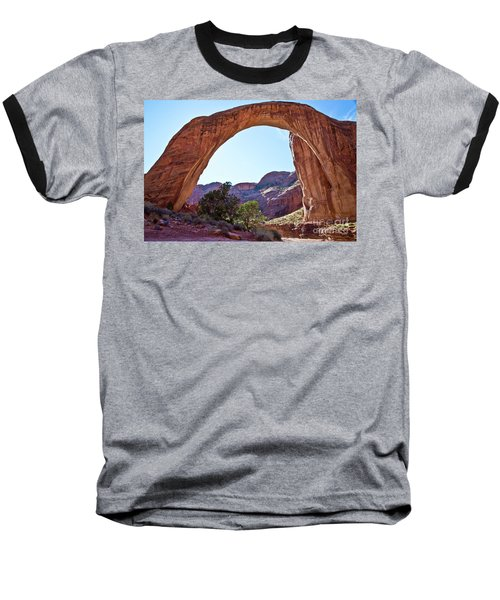 Rainbow Bridge Baseball T-Shirt by Kathy McClure