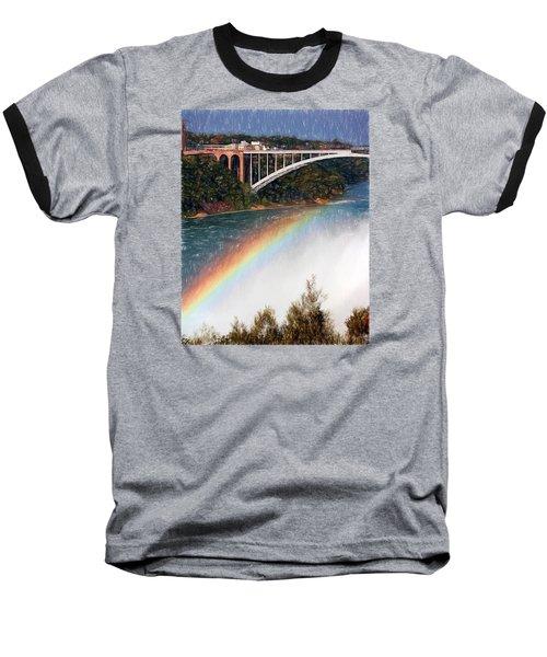 Rainbow Bridge - Niagara Falls Baseball T-Shirt