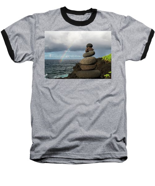 Rainbow Cairn Baseball T-Shirt